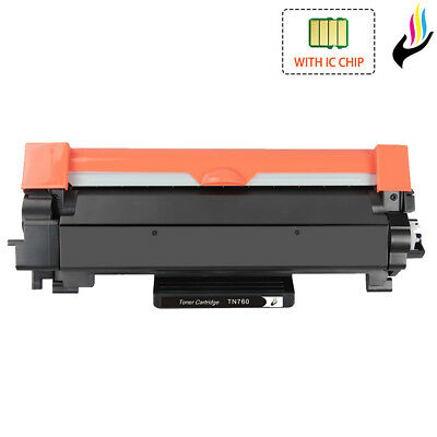 TN760 Toner +Chip Compatible for Brother TN-760 MFC-L2710DW L2750DW DCP-L2550DW