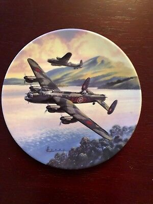 6X Royal Worcester Wilfred Hardy Dambusters Collector's Plate Series