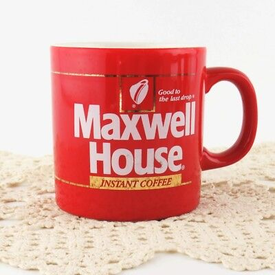 Maxwell House Mug Red and White with Gold Made In England Coffee Cup