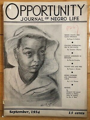 Opportunity Journal of Negro Life, Vol. XII No. 9 Sept 1934