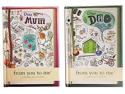From You to Me - Journal of A Lifetime - Hardback Dear Mum & Dear Dad Sketch Des