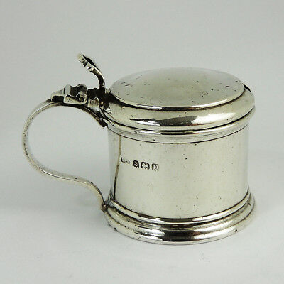 Sweet George V STERLING SILVER MUSTARD POT Birmingham 1928 Docker & Burn