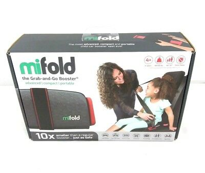 Mifold Grab-and-Go Car Booster Seat, Slate Grey NEW
