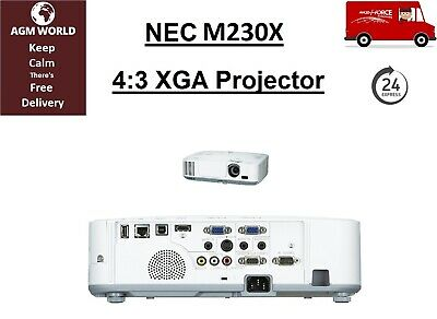 NEC M230X HDMI LCD Projector 2300 Lumen 2000:1 33% Lamp Life Remaining