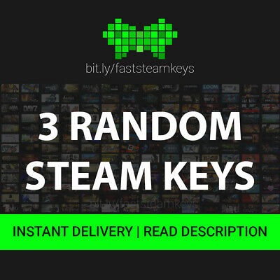 3 Random Steam Game Keys / GLOBAL / GOOD KEYS / 24H MAX DELIVERY