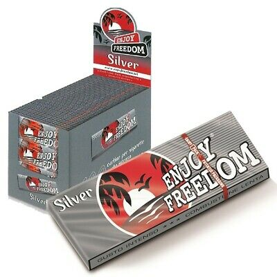 Enjoy Freedom Box Cartine Silver Corte 5000 Cartine 100 Libretti 50 Foglietti