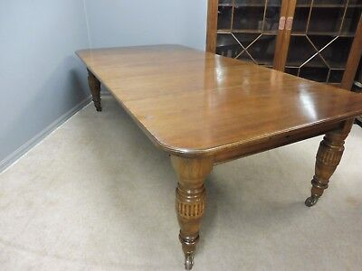 Antique Oak 19Th C Wind Out Dining Table