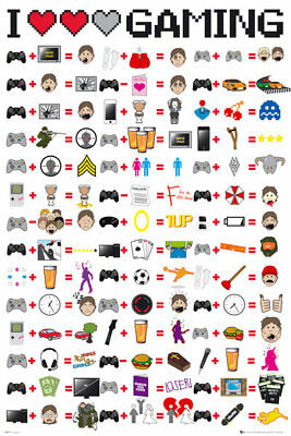 I Love Gaming Maxi Poster Print 61x91.5cm | 24x36 inches