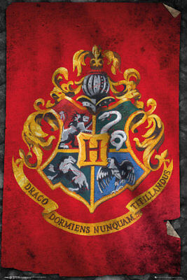 Harry Potter Hogwarts Flag Wizarding World Maxi Poster Print 61x91.5cm | 24x36