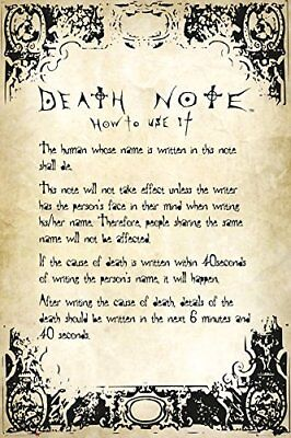 Death Note Rules Anime Maxi Poster Print 61x91.5cm | 24x36 inches