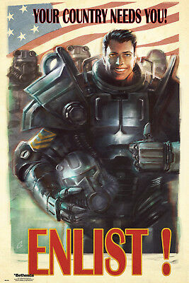 Fallout 4 Enlist Gaming Maxi Poster Print 61x91.5cm | 24x36 inches