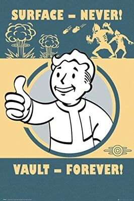 Fallout 4 Vault Forever Gaming Maxi Poster Print 61x91.5cm | 24x36 inches