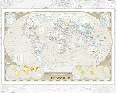 World Map Tripel Projection Educational Maps Mini Poster Print 40x50cm 16x20 in