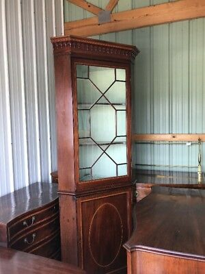 Antique George Iii Regency Corner Cabinet Cupboard 18Th 19Th Century English