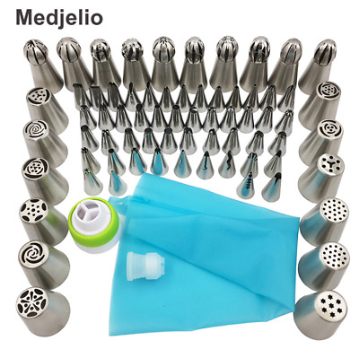 70Pcs Russian Tulip Nozzle Bakeware Icing Piping Tips Baking Pastry Cake