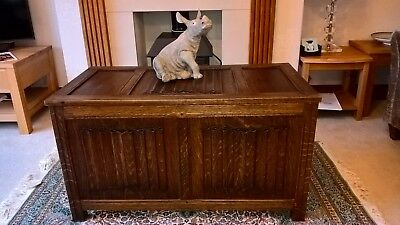 Old Charm Linenfold Coffer / Blanket Box