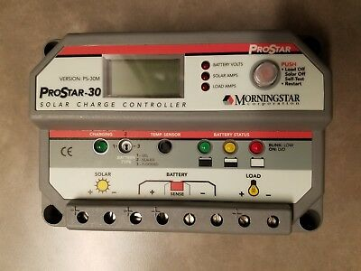 MORNINGSTER PROSTAR-30 PS-30 Addc0 SOLAR CHARGE CONTROLLER