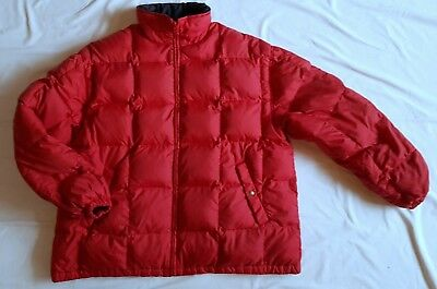 94d6b177540 Vintage Retro YSL Yves Saint Laurent Men's Size L Red Down Filled Puffer  Jacket