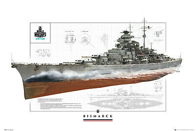 World of Warships Bismarck Gaming Maxi Poster Print 61x91.5cm | 24x36 inches