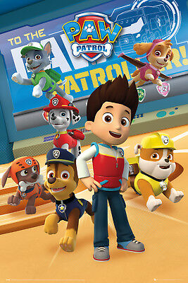 Paw Patrol Characters Kids Cartoons Maxi Poster Print 61x91.5cm | 24x36 inches