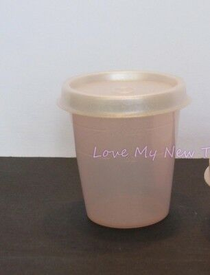 Tupperware Pearly Pink 2oz Tupper Mini Midget Spices Dressings Beads New