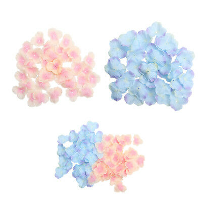 400pcs Silk Hydrangea Petals for Flower Girl Baskets Tabletops Wedding Decor