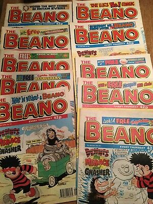 10 Beano comics from 1997.   good condition