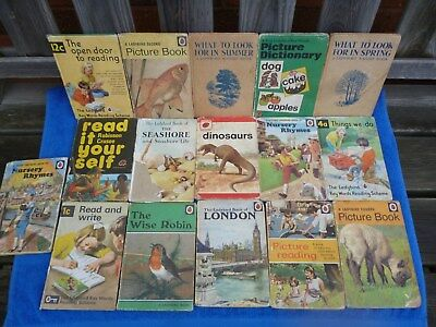 Job Lot of 16 Old Ladybird Books , Various Series , Poor Condition.