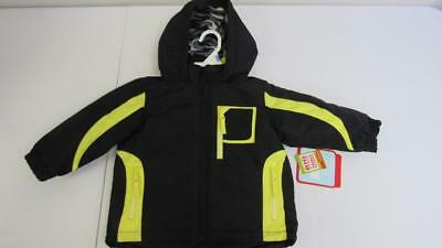 4647aeccc Wonder Kids Boys Convertible Winter Coat Black w/Yellow Size 18 months NEW  WC2
