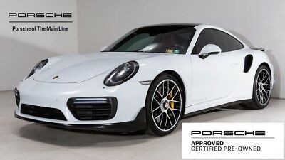2017 911 Turbo S 2017 Porsche 911 Turbo S 9,122 Miles Carrara White Metallic 2D Coupe 3.8L 6-Cyli