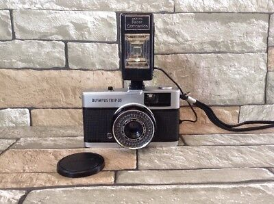 Vintage Olympus Trip 35 With D.zuiko Lens & Flash(Untested)