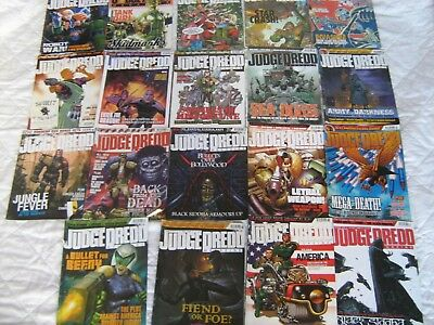 Judge Dredd Monthly Megazine 19 issues 2006-08 Good Condition