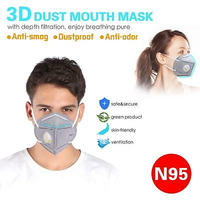 Mouth Mask Anti Pollution Mask N95 4 Layer Filter Insert Anti Dust Mask Filter