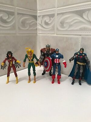 Marvel Universe 3.75in Figure Lot Thor Captain America Iron Fist Black Knight