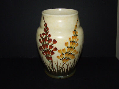 """A  E RADFORD VINTAGE Vase Hand painted 8"""" high   POTTERY Good con"""