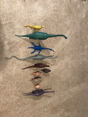 1970/80's BRITISH MUSEUM NATURAL HISTORY SET OF 10 DINOSAURS FIGURES VERY CLEAN!