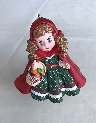 Hallmark 1991 Madame Alexander Doll Little Red Riding Hood Ornament 2 Pre-owned