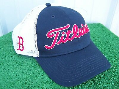 99a0bda973d Titleist Golf Boston Red Sox MLB Mesh Back Adjustable Snap Back Golf Hat Cap  NEW