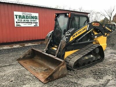 2013 New Holland C238 Compact Track Skid Steer Loader w/ Cab 2 Speed, High Flow