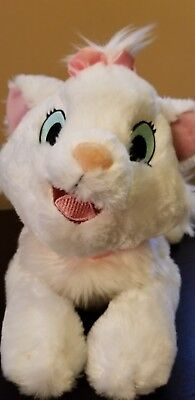 Disney Parks Aristocats Marie Plush White Kitten Cat Pink Bow Stuffed Animal 18""