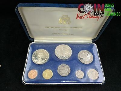 1973 Barbados First National Coinage 8-Coin Proof Set #10726