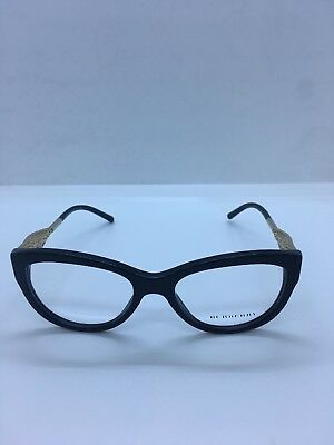 dfa79b71b0d NEW Burberry B 2210 3001 Black Gold 51.17.140 Women s Eyeglass Frames W out