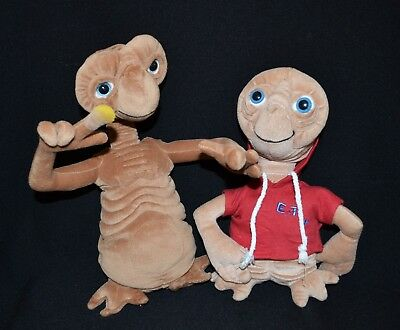 "E.T. The Extra Terrestrial Plushes x 2  12"" & 11"""