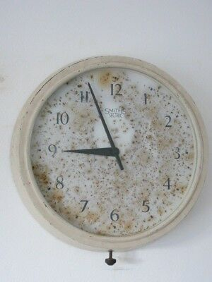 Vintage Industrial Large Smiths Sectric Bakelite Station Wall Clock