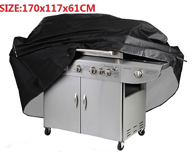 BBQ Cover Heavy Duty Waterproof Rain Barbeque Grill Gas Garden Protector Black L