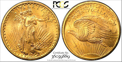 1907 $20 GOLD * PCGS MS64+ PLUS * SECURE * CAC * St. GAUDENS DOUBLE Eagle Dollar