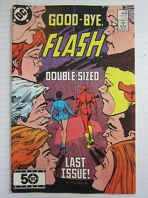 The Flash Comic Book #350 FN/VF DC Comics 1985 Last Issue!