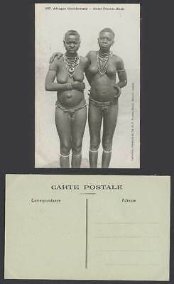 Senegal W. Africa Old Postcard Jeunes Femmes Diolas Jola Diola Young Girls Women
