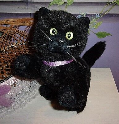 My Twinn Poseable Pets Darling Black Cat W/collar And Bell