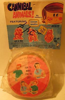 Hasbro 1968 Cannibal Animals Instant Mints - Eat A Dog Monkey Owl - Cocoa Marsh